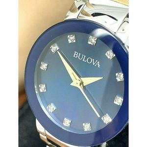 Bulova Women's Watch 98P157 Two Tone Diamond